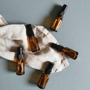 5stk 15ml amber sprayflaske