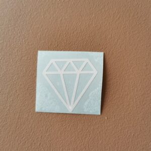 diamant hvit tykk strek