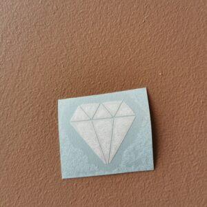 diamant fylt, hvit
